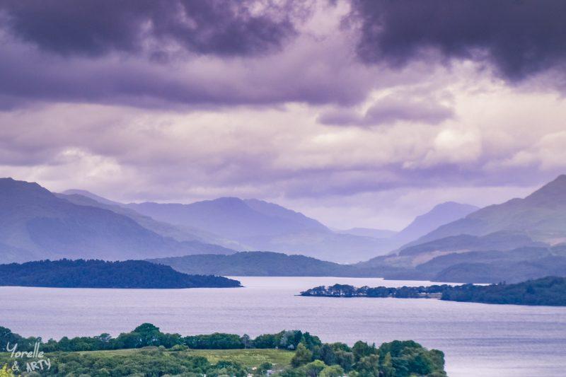 Nuages bas sur le Loch Lomond