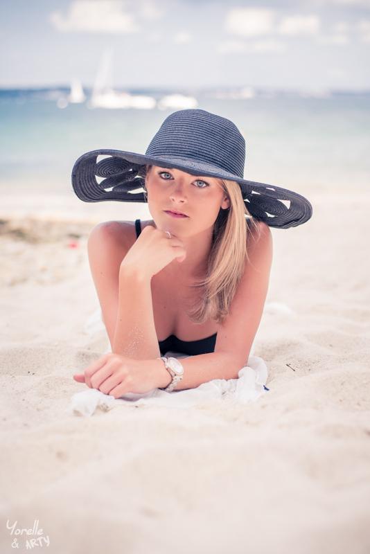 Portrait photo sur la plage - Finistère