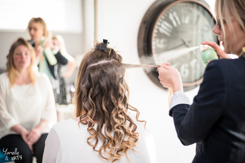 Coiffure de la mariée - Préparatifs
